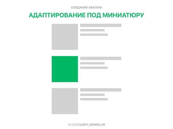 Адаптация мигиатюры аватара